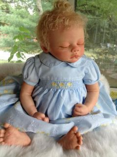 Serenity Beautiful Reborn Baby Girl Art Doll Hand Painted 3D Skin