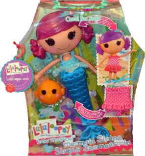 Lalaloopsy Sew Magical Sew Cute Coral Sea Shells Mermaid Large Doll Bath Toy