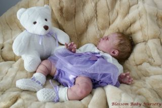Sold Out Solid Soft Platinum Silicone Reborn Baby Doll Zhen by Claire Taylor