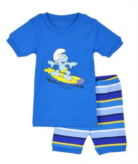 Baby Toddler Kids' Boys' Clothing Short Sleeve Sleepwear Cute Pajama Set 1 6Y