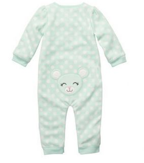 Carters Baby Girl Fall Winter Clothes Coverall Mint 3 6 9 12 18 24 Months