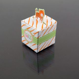 48 Tiger Born to Be Wild Jungle Baby Shower Favor Candy Boxes Party Decoration