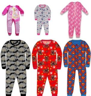 Kids Onesie Girls Boys Toddler All in One Jumpsuit Pyjamas Ages 2 10 BNWT