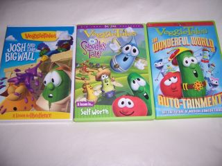 Lot Veggie Tales DVD's Shows Josh Big Wall Snoodles Tale World of Auto Tainment