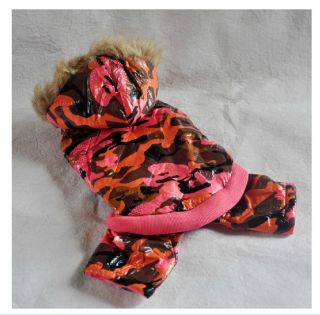 Camo Dog Clothing Wear Sweater Cotton Winter Warm Dog Clothes Coats Free SHIP