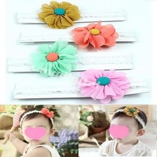 Cute Kid Baby Girls Headband Hairband Hair Bow Flower Clip Elasticity Headwear
