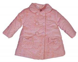 "TUTTO Piccolo ""Sweet Leo"" Girls Winter Coat Jacket Leopard Baby Rose Pink"