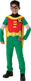 Batman Robin or Superman Boys Fancy Dress Child Superhero Costume Kids Ages 3 10