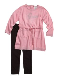 Guess Baby Girl Karena Sweater Dress Leggings Set 12 24M