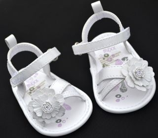 White Mary Jane Kids Baby Toddler Girl Shoes Sandals Size 1 2 3