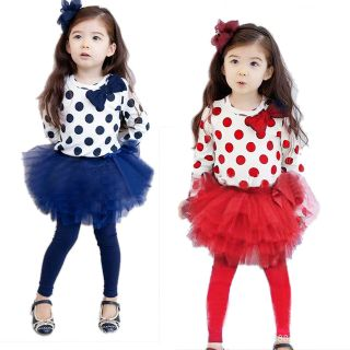 Loved Hot Baby Toddler Girl Kids Clothes Set Dress Top Leggings Skirt 2013 New