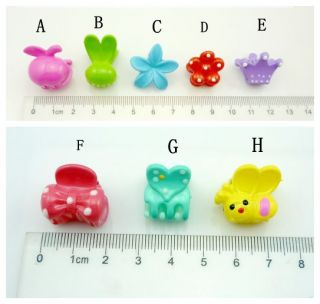 5 x Cute Kids Baby Girl's Crown Rabbit Ears Flowers Bow Mini Catch Hair Clip