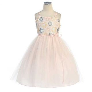 Sweet Kids Girls Size 12 Pink Tulle Easter Flower Girl Ballet Dress
