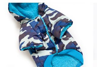 Autumn Winter Cute Camo Warm Dog Clothing Wear Coats Dog Jacket Sweater Clothes