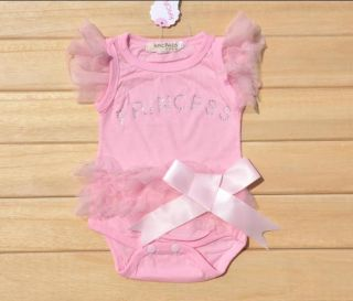 New Baby Girls Bodysuit One Piece Princess Dress Kids T Shirt Dress Set H005