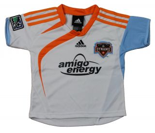 Adidas Houston Dynamo MLS Soccer Toddlers Away Replica Jersey Shirt White