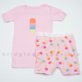 Baby Gap Girls Short Pajamas PJs Shorts Cute