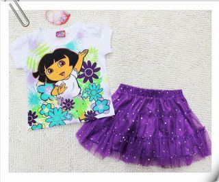 Girls Kids Dora SZ1 5Y Costume Summer Fancy Dress Tutu Skirt Outfit Clothes