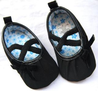 Black Mary Jane Toddler Baby Girl Shoes Size 2 3