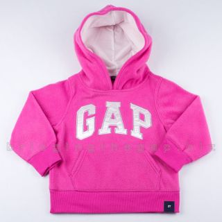 Baby Gap Girls Sweatshirt Hoodie Logo Jacket Fleece