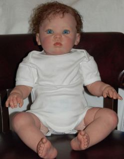 Reborn 9 MO Sized Baby Girl Toddler from Donna RuBert Cuddles Kit