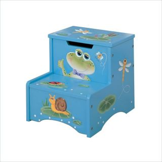 Teamson Kids Froggy Hand Painted Kids Step Stool with Storage   W 5423F