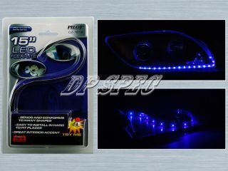 "Blue 15"" LED Strip Head Tail Light Bumper Grille Dash Seat Dodge"