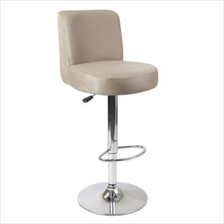 Winsome Jayden Air Lift Stool with Micro Fiber Top in Brown/Metal   93119