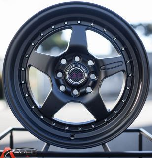 15x8 JNC 009 4x114 3 25 Matt Black Wheel Fit Datsun 510 260z 240sx AE86 4x4 5
