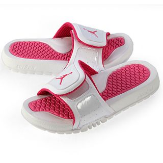 Nike Jordan Hydro 2 GS Youth Size 7 White Vivid Pink Athletic Sandals Slides