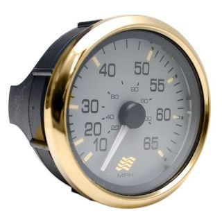 Four Winns Faria SE9390A Signature Gold Gray 65 MPH Boat Speedometer Gauge