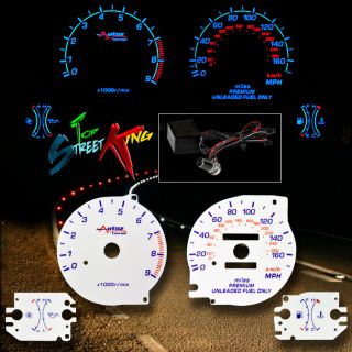 Reverse Indiglo Glow Gauge Face 95 99 Eclipse Talon DSM 2G Turbo Dash Cluster MT