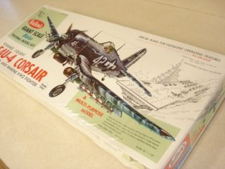 Guillow's F4U 4 Corsair WWII Flying Model Airplane Kit SEALED