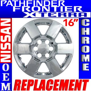 "1 PC Nissan Frontier Pathfinder Xterra 16"" Chrome Wheel Skins Rim Covers Hub Cap"