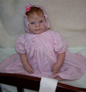 Precious Reborn Baby Girl Holly by Donna RuBert Petit Ami Dress Bonnet Bloomers