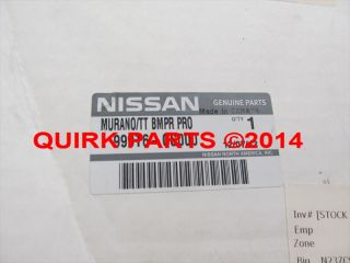 2003 2005 Nissan Murano Rear Bumper Step Pad Protector Genuine Brand New