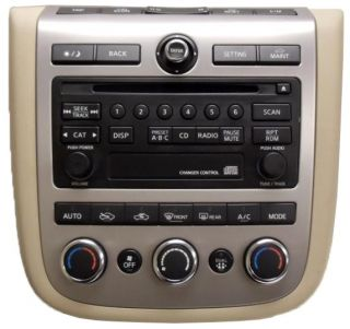 06 07 Nissan Murano Tan Radio CD Disc Player AC Controls 28185CC20A PN 2529H