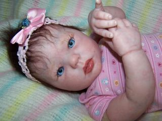 Reborn Lifelike Baby Girl Kimi by Donna RuBert Gorgeous EyeCo Eyes Must See