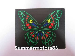 "6 3"" New Green Butterfly Car Sound Music Activated Equalizer Light Sticker Kit"