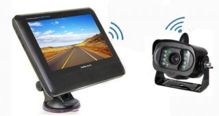 "Wireless 7"" TFT LCD Car Rearview Monitor Bus Truck Backup Camera IR Nigh Vision"