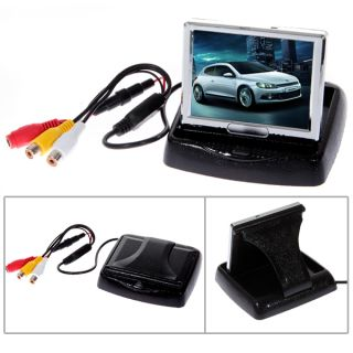 3 5 TFT LCD Rear View Color Camera Car Monitor DVD PAL NTSC Low Illumination