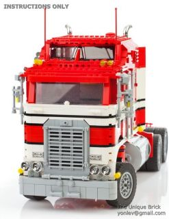 Lego Custom Model 1978 Kenworth Truck Instructions Manual Technic City Cargo