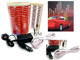 Sound Music Activated Sensor Light Equalizer Red LED 12V Car Sticker 80x19 Cm