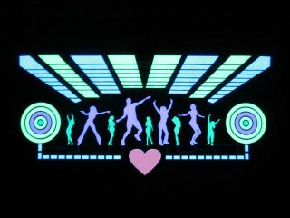 "7 6"" Hot Dancing Car Sticker Sound Music Activated Equalizer Glow Light Kit"