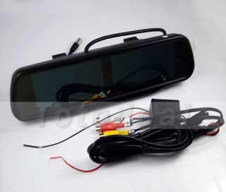 "GPS 4 AV Input 4 3"" TFT LCD Car Rear View Backup Mirror Monitor Double Screen"