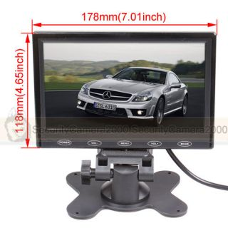 7 inch Car Vehicle Color TFT LCD Monitor 2CH Video Input Infrared Remote Control