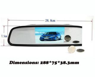 "4 3"" Car Rear View Monitor Mirror 2 4G Wireless Camera Night Vision Waterproof"