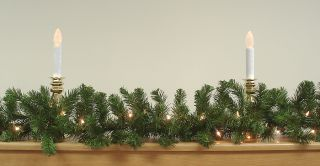 "50' x 10"" Pre Lit Commercial Pine Artificial Christmas Garland Clear Lights"