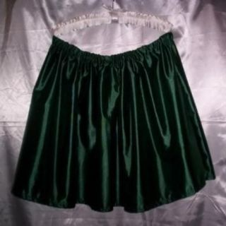 Custom Made Adult Womens Mens Sissy CD TV Sexy Green Satiny Mini Skirt Flirty