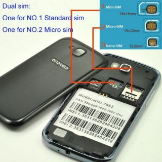 "3 5"" Dual Sim Capacitive Touch Screen Unlocked Android 2 3 Smart Phone Micro Sim"